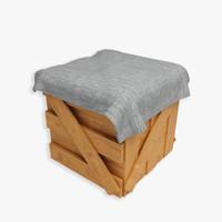 wood carton 3d model