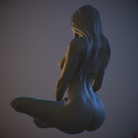 obj zbrush posed female