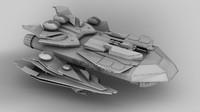 spaceship 3d c4d