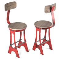 frame bar stool chair 3d model