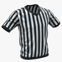 3d refere shirt model