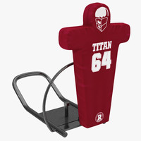 football tackling dummy 2 3d max