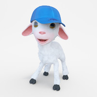 cartoon boy lamb rigged 3d model