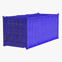 Collapsible ISO Container Blue