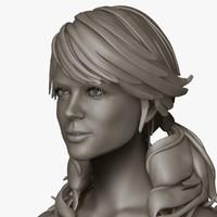zbrush female amber 3d model