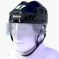 3d model hockey helmet reebok 7k