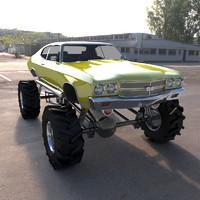 3dsmax monster car