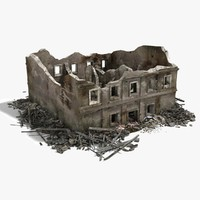 3dsmax destroyed ruined building war 2