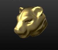 3d model cougar head