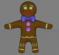 3d gingerbread man ginger
