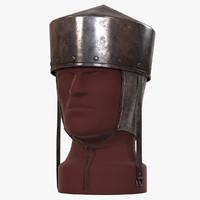 pot helmet medieval helm 3d max