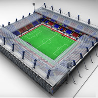 soccer football stadium 3d 3ds