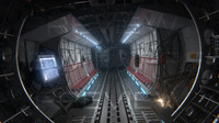 3d cargo aircraft interior model