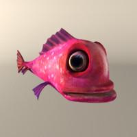 pink fish 3d max
