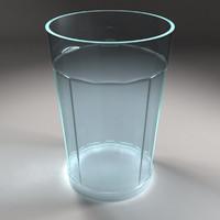 beverage glass 3d model