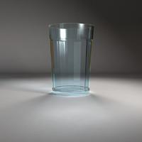 3d model glass beverage