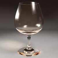 brandy glass 3d model