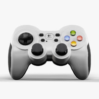 3d model logitech wireless gamepad f710