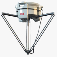 3d model abb irb 360 industrial robot