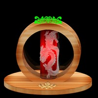 chinese red dragon lamp 3d max