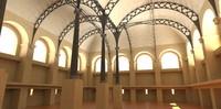 sainte-genevive library henri labrouste 3d 3dm