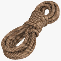 3d model rope modeled