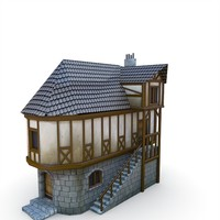 medieval village apothecary buildings fbx