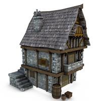 Medieval Building 16 Merchant's Shop
