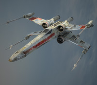star wars x-wing starfighter 3d obj