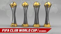 3d model world club trophy