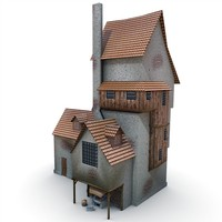 3ds max medieval old blacksmith s house
