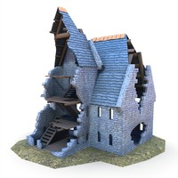 3ds max medieval ruined church buildings