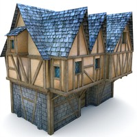 medieval loyalist buildings 3d model