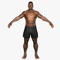 african american male rigged 3d model