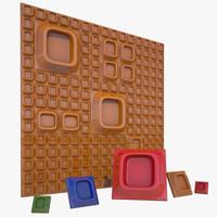 3d model suga wall tile