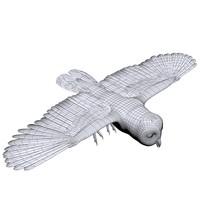 3d owl model