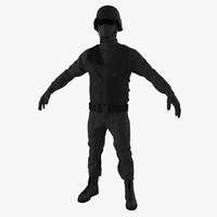 swat uniform 4 3d model