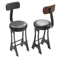 upholstered frame bar chair 3d model