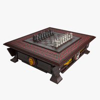 3d model chess table