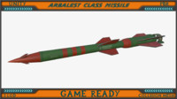 3ds max arbalest class missile