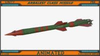 3ds max arbalest class missile animation