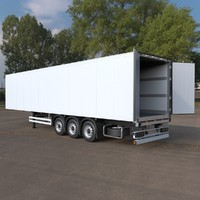 refrigerated semi exterior interior 3d max