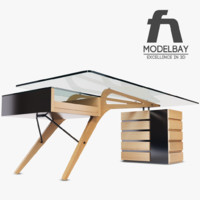carvour desk 3d 3ds