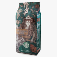 starbucks coffee packaging 3d model