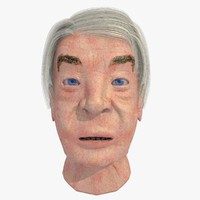 realistically european elderly male head 3d 3ds