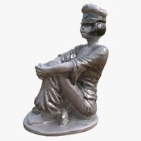 valentina statue guido crepax 3d max