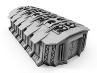 3d model of sci-fi building 1505