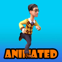 citizen animation 3d model