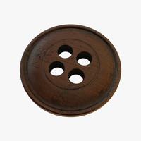 3d wood button model