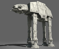 star wars at-at imperial walker 3d max